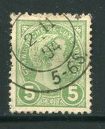 LUXEMBOURG- Y&T N°72- Oblitéré - 1895 Adolphe Right-hand Side