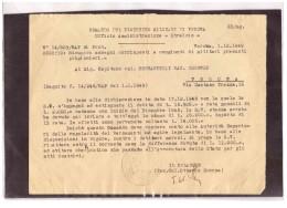 A63  -   VERONA  1.12.1949   /    COMANDO DEL DISTRETTO MILITARE DI VERONA - Documenti Storici