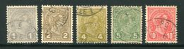 LUXEMBOURG- Y&T N°69 à 73- Oblitérés - 1895 Adolphe Right-hand Side