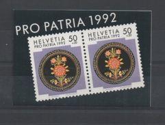 1992 Pro Patria, Gestempelt, Ersttag - Markenheftchen