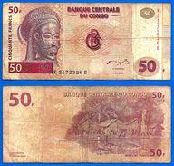 Congo 50 Francs 2000 Prefix K Masque Village Pecheur Paypal Skrill Bitcoin OK - Republic Of Congo (Congo-Brazzaville)