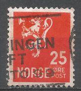 Norway 1926. Scott #120 (U) Lion Rampant - Norvège