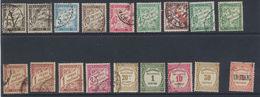 France Timbres-Taxe 1881-1955 Petit Lot Oblit Et * MH - 1859-1955 Oblitérés
