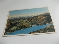 CARTE GEOGRAFICA LAGO DI COMO CHIASSO E CERNOBBIO VISTI DA BRUNATE - Carte Geografiche