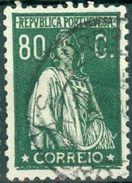 PORTOGALLO, PORTUGAL, CERES, 1930, FRANCOBOLLI USATI, 80 C.   Michel 525,  YT 523  Scott 274, Afi 507 - 1910 - ... Repubblica