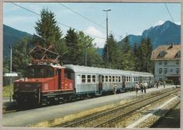 DB Lokalbahnlokomotive E 69 03 Am 17.8.1991 Im Bahnhof Oberammergau / Obb. - Bahn - Railway - Trains - Trenes