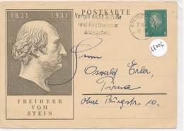 """Philatélie -18006 -  Entier Postal  Allemagne   """"Freiherr Vom Stein 1831-1931"""" - Germany"""