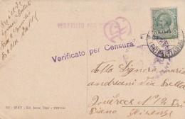 CARTOLINA VIAGGIATA COLONIE ITALIANE LIBIA CIRCA 1915 VERIFICA CENSURA (TX323 - Libia