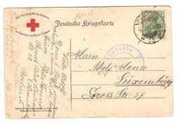 PK Deutsche Kriegskarte Roten Kreuzes BM Germania Berlin 16/11/1915 Zensur N.Luxemburg 1315 - Allemagne