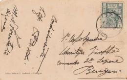 CARTOLINA VIAGGIATA COLONIE ITALIANE LIBIA CIRENE (TX337 - Libia