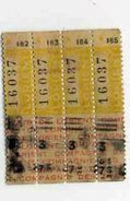 LORIENT  4 Tickets Tramways - Tranvías