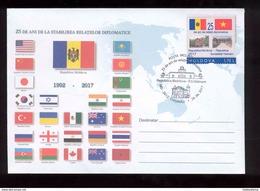 Moldova 2017 25 Years Of Diplomatic Relations  Moldova - Vietnam  Special Cancellation - Moldova