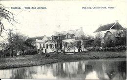 Gistoux (1325) : Villa Bon Accueil, Avec Timbre Et Cachet De La Censure Militaire Allemande. CPA. - Chaumont-Gistoux