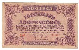 Hungary 100000 Pengo 28/05/1946 *V* - Ungheria