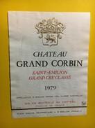 6455 - Château Grand Corbin 1979 Saint-Emilion - Bordeaux