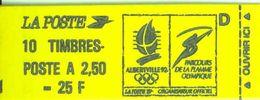 FRANCE - BOOKLET / CARNET, Yvert 2715-c4, 1991, 10 X 2.50 Marianne De Briat, Red - Carnets
