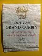 6456 - Château Grand Corbin 1987 Saint-Emilion - Bordeaux
