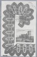 FR.- DENTELLE DU PUY. Chateau De Polignac. GUIPURE SOIE NOIRE AVEC MEDAILLON CHANTILLY. Ongebruikt. - Postkaarten