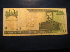10 Pesos De Oro 2001 REPUBLICA DOMINICANA Dominican Republic République Dominicaine Banknote Billet Billete - Dominicaine
