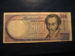 500 Bolivares 1990 VENEZUELA Banknote Billet Billete - Venezuela