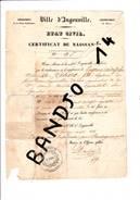 Ingouville - Le Havre - 1824 - Certificat De Naissance Eugène Tabare - Gentil - Old Paper