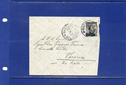 ##(YEL1)-Italia 19-12-1910- Bazzano(Bologna) -annullo Su Busta Affrancata Cent.15 Per  Verona - 1900-44 Victor Emmanuel III