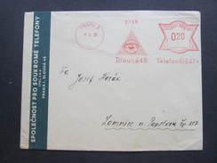 BRIEF Praha 5 Telefpn Telephone Phone 1938  Frankotype Freistempel Postfreistempel /// N8290 - Briefe U. Dokumente