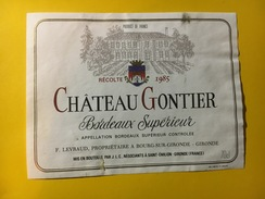 6463 - Château Gontier 1985 - Bordeaux