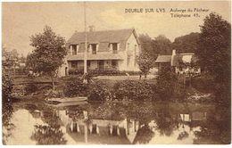 DEURLE SUR LYS - Auberge Du Pêcheur - Mooie Kaart, Gelopen, Verstuurd In 1928 - Sint-Martens-Latem
