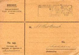 8 X 1940 Dienstkaart Van HAARLEM Naar Schiedam - Period 1891-1948 (Wilhelmina)