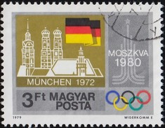 HUNGARY - Scott #2589 Moscow '80 Pre-Olympic Year / Used Stamp - Summer 1980: Moscow