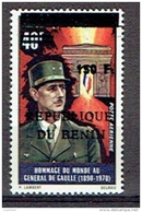 BENIN 1979??, DE GAULLE Surchargé  150 F/ Overprinted Sur DAHOMEY Yvert 139, Neuf / Mint. R976 - De Gaulle (Général)
