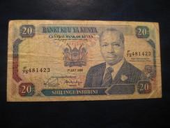 20 Shilingi 1989 KENYA Circulated Banknote Billet Billete - Kenya