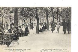CPA / Carte Animée / 75 PARIS /  Paris Pendant Le Bombardement 1918 / L'avenue Des Champs-Elysées - Guerra 1914-18