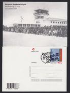 PORTUGAL 2017 POSTAL STATIONERY - 175 YEARS AIRPORT HUMBERTO DELGADO - Postal Stationery