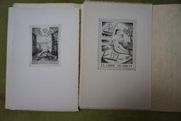 Association Belge Des Collectionneurs Et Dessinateurs D'Ex-libris - Exercice 1949 - 10 Reproductions Clichées Ou Gravées - Ex-libris