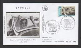 """DF / FDC DU TP 3264 SERIE DES GRANDS PHOTOGRAPHES FRANÇAIS : LARTIGUES """" RENÉE SUR LA ROUTE ... """" JUILLET 1931 - Lettres & Documents"""