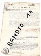 Rouen -1812- Certificat De Décès De Pierre Leroy (terrassier) Domicilié à Bois Guillaume - Documentos Antiguos