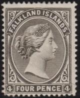 Falkland  Islands       .    SG     .    12       .      *    .      Ongebruikt   .    /  .   Mint-hinged - Falklandeilanden