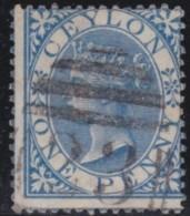 Ceylon        .    SG     .    61      .       O      .   Gebruikt    .    /  .   Cancelled - Ceylon (...-1947)