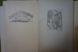 Association Belge Des Collectionneurs Et Dessinateurs D'Ex-libris - Exercice 1951 - 10 Reproductions Clichées Ou Gravées - Ex-libris