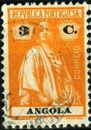 ANGOLA, COLONIA PORTOGHESE, PORTUGUESE COLONY, CERES, 1922, USATI, 3 C.      Michel 204C,  YT 204(A)  Scott 126 - Angola