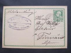 GANZSACHE Reichstadt - Turnau Anton Hess 1914  Korrespondenzkarte /// D*29599 - 1850-1918 Imperium