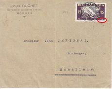 """145 SUR LETTRE - LOGO PRIVE """"LOUIS BUCHET - NOTAIRE ET GEOMETRE OFFICIEL - """" -1919 + DOUBLE IMPRESSION DU NOM DU GRAVEUR - Svizzera"""