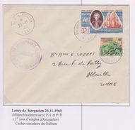 TAAF - Expedition Polaire - Kerguelen - Galliéni - P11 - 18 - 1ère Date - Covers & Documents