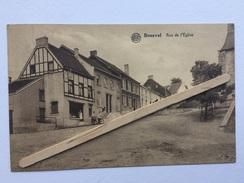 BOUSVAL «Rue De L'Eglise «Panorama,animée,cycliste ,commerce (1930) Édit Miesse-Denis (ALBERT). - Genappe