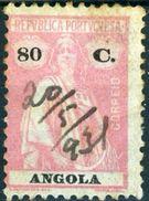 ANGOLA, COLONIA PORTOGHESE, PORTUGUESE COLONY, CERES, 1923, FRANCOBOLLI USATI, 80 C.      Michel 220C,  YT 219(A) - Angola