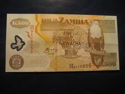 500 Kwacha 2008 ZAMBIA Unused UNC Banknote Billet Billete - Zambie