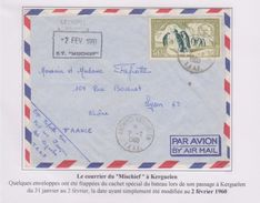 TAAF - Expedition Polaire - Kerguelen 2-2-1960 - Mischief - Cachet - - French Southern And Antarctic Territories (TAAF)