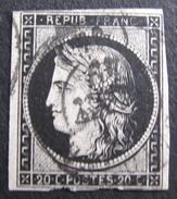 Lot FD/52 - CERES N°3a - GRAND CàD JANVIER 1949 - Filet Sud Défectueux - Cote : 450,00 € - 1849-1850 Ceres